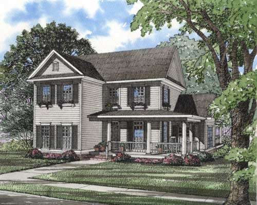 Farm Style Home Design Plan: 12-280