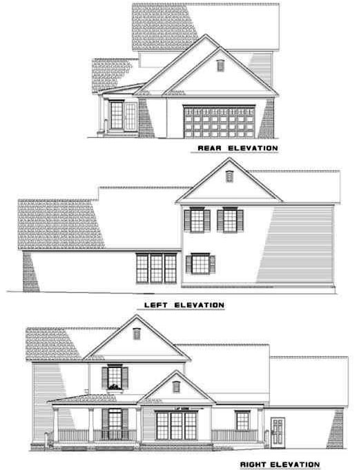 Rear Elevation Plan: 12-280