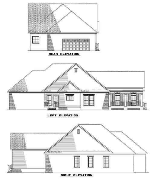 Rear Elevation Plan: 12-281