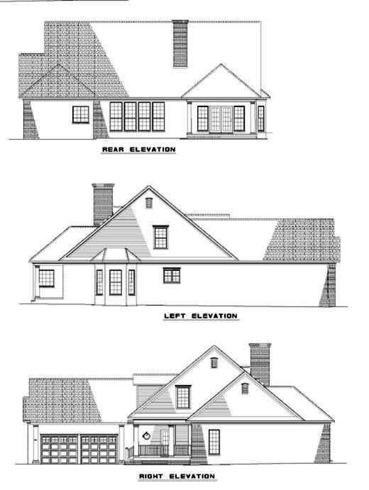 Rear Elevation Plan: 12-282
