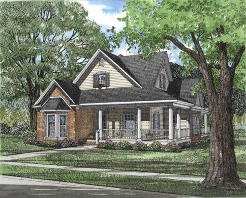 Southern Style Floor Plans Plan: 12-283