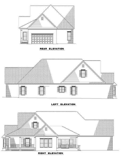 Rear Elevation Plan: 12-283