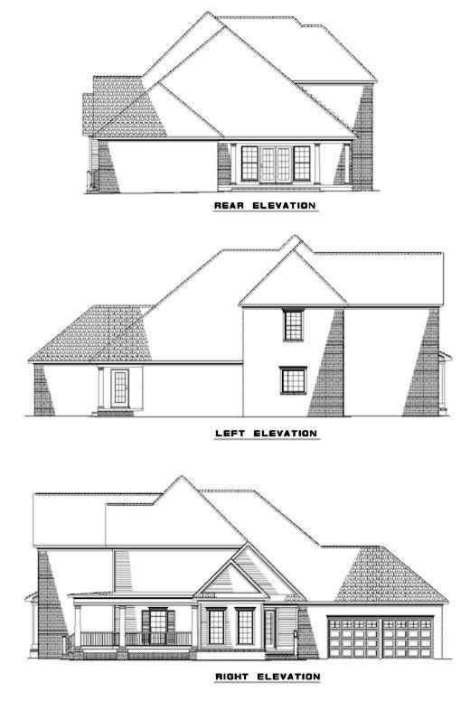 Rear Elevation Plan: 12-284