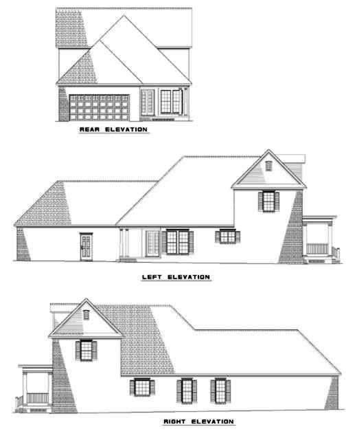 Rear Elevation Plan: 12-285