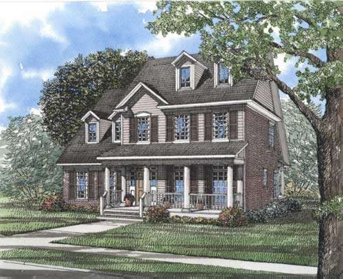 Southern Style Floor Plans Plan: 12-286