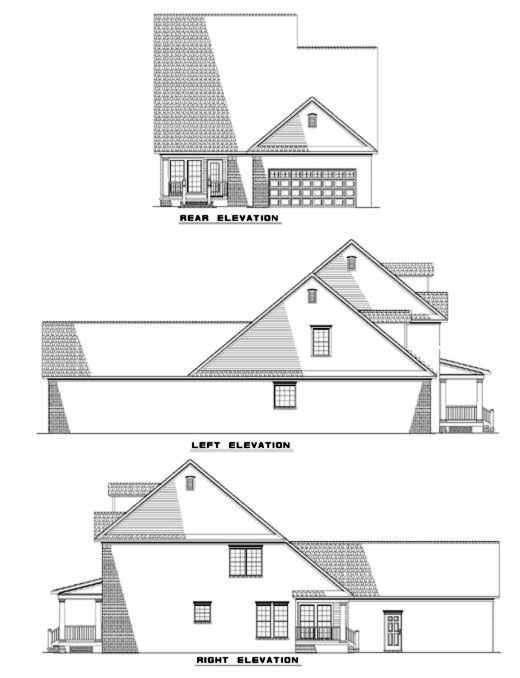 Rear Elevation Plan: 12-286