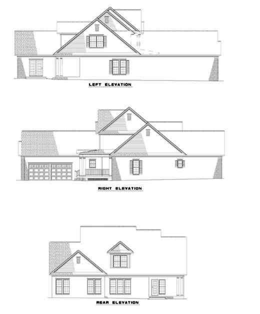 Rear Elevation Plan: 12-287