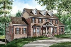 Southern-Colonial Style Floor Plans Plan: 12-288