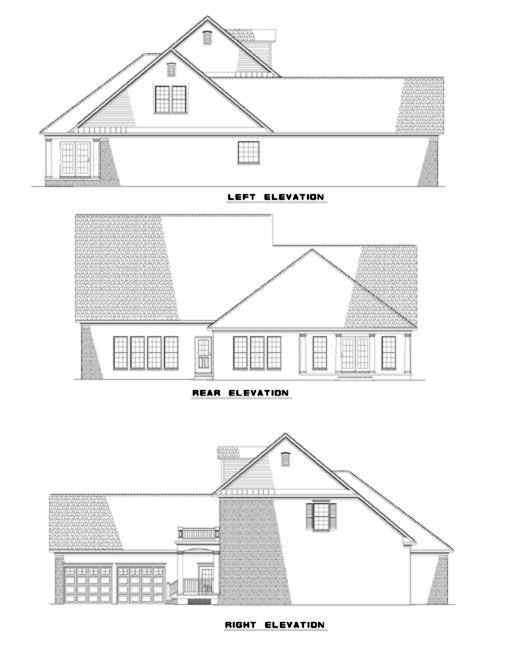 Rear Elevation Plan: 12-290