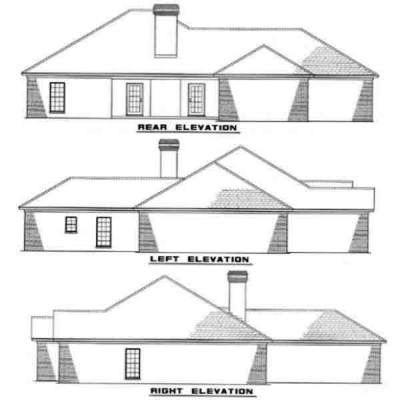 Rear Elevation Plan: 12-291