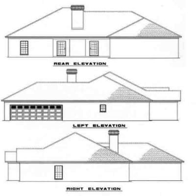 Rear Elevation Plan: 12-292