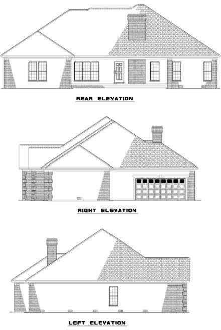 Rear Elevation Plan: 12-293