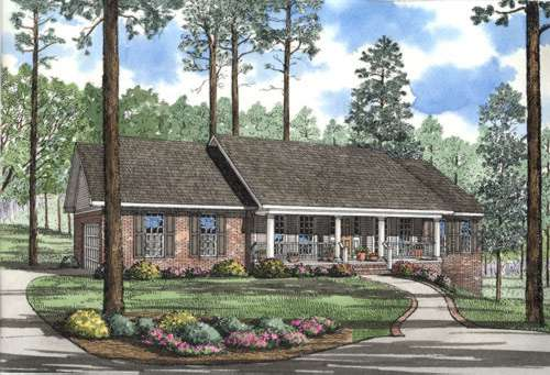 Ranch Style Home Design Plan: 12-294