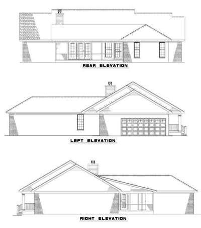 Rear Elevation Plan: 12-294