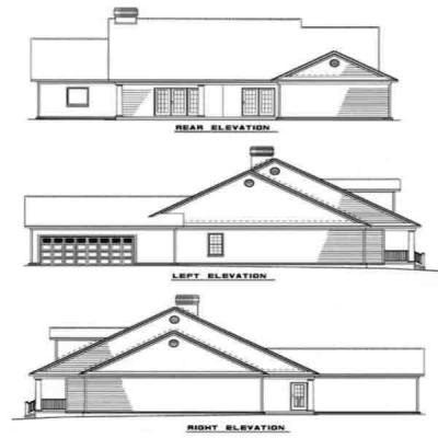 Rear Elevation Plan: 12-295