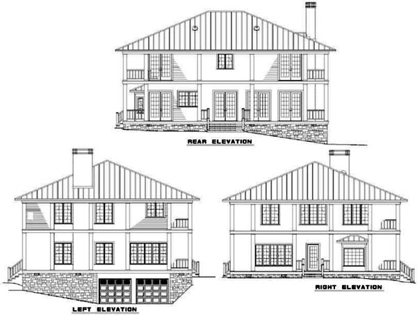 Rear Elevation Plan: 12-296