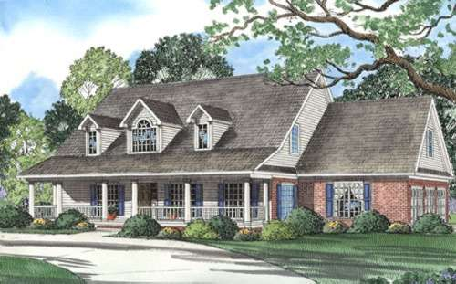 Southern Style Home Design Plan: 12-297