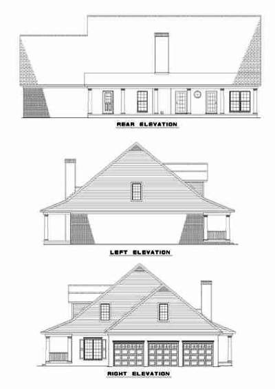 Rear Elevation Plan: 12-297