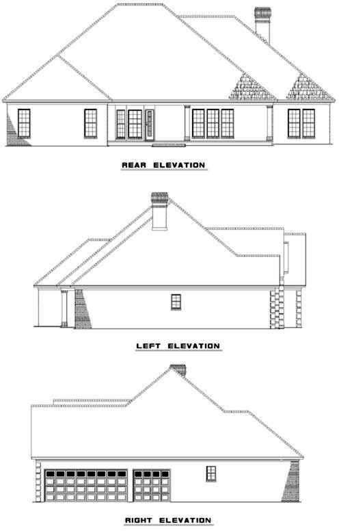 Rear Elevation Plan: 12-298