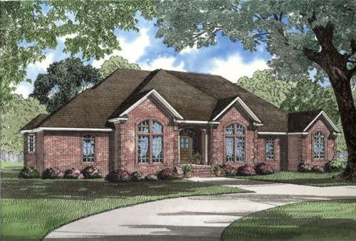 European Style Home Design Plan: 12-299