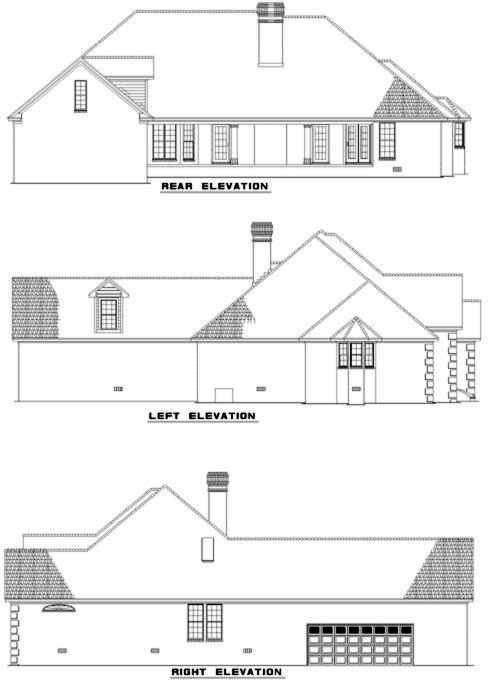 Rear Elevation Plan: 12-299