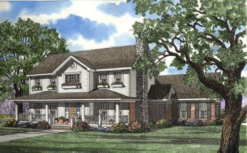 Country Style Floor Plans Plan: 12-300