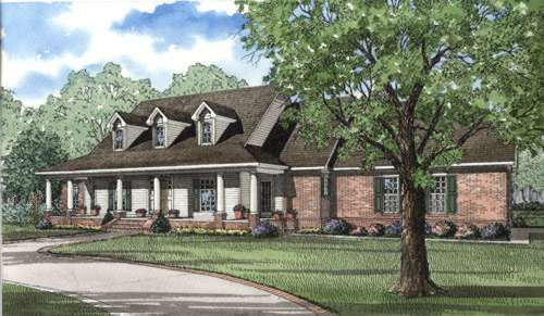 Southern Style House Plans Plan: 12-301