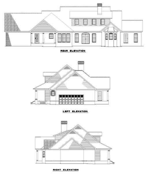 Rear Elevation Plan: 12-301