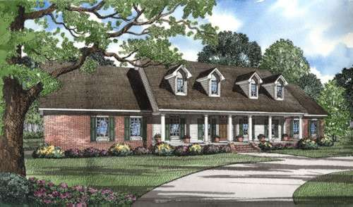 Country Style Home Design Plan: 12-302