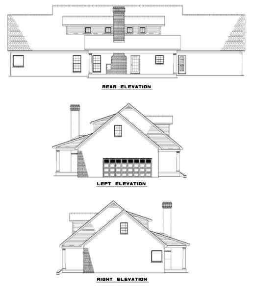 Rear Elevation Plan: 12-302