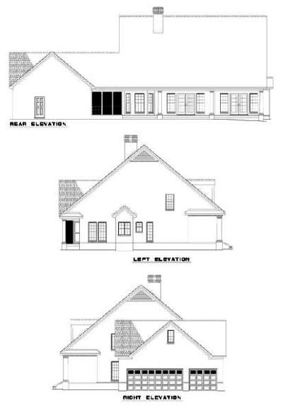 Rear Elevation Plan: 12-303