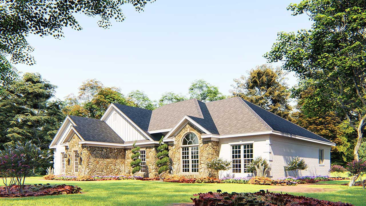 Traditional Style Home Design Plan: 12-304