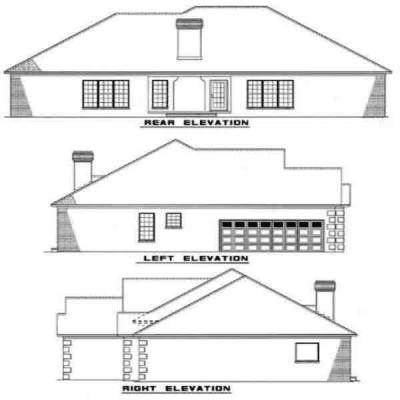Rear Elevation Plan: 12-304