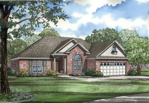 Traditional Style Home Design Plan: 12-305