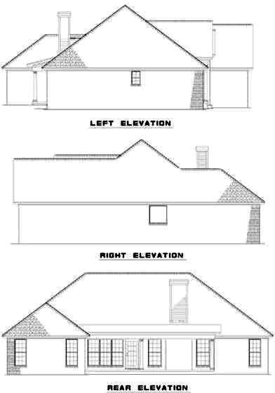 Rear Elevation Plan: 12-305