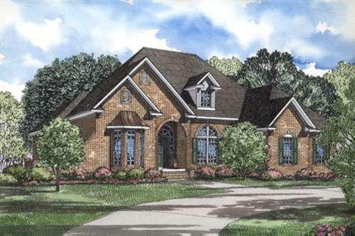 European Style House Plans Plan: 12-306
