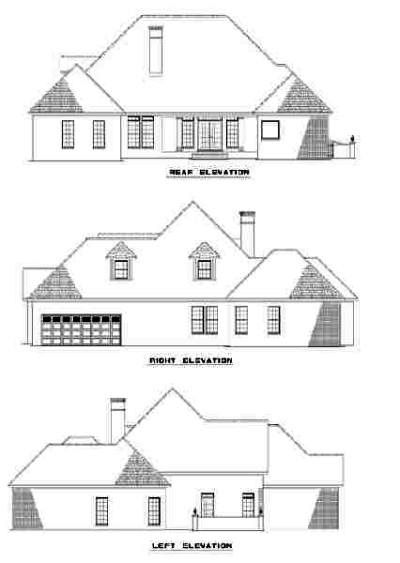 Rear Elevation Plan: 12-306