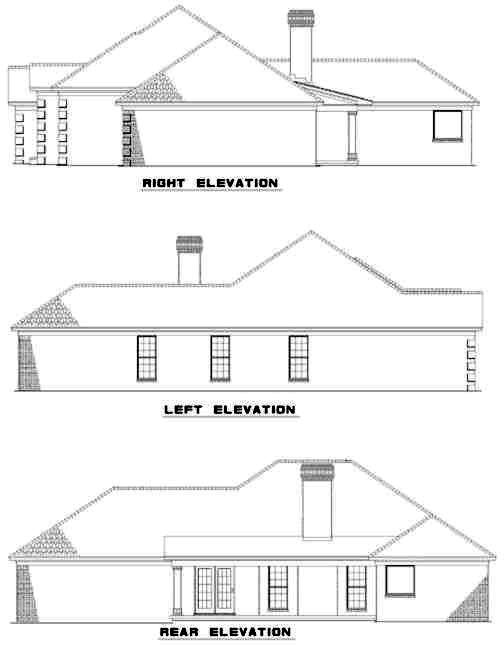 Rear Elevation Plan: 12-307