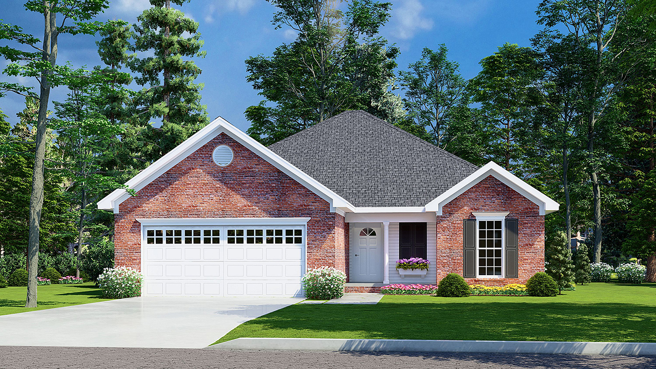Traditional Style Home Design Plan: 12-308