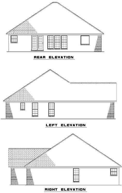 Rear Elevation Plan: 12-308