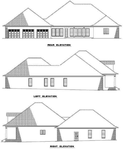 Rear Elevation Plan: 12-309
