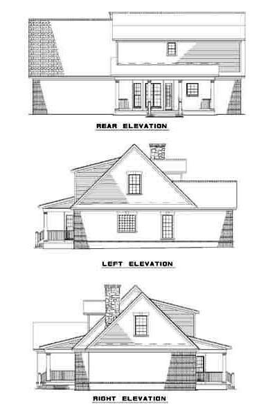 Rear Elevation Plan: 12-313