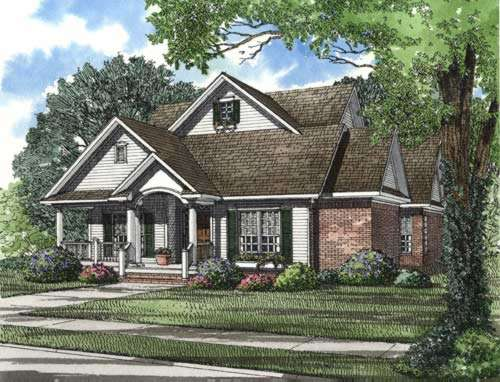 Southern Style Home Design Plan: 12-314