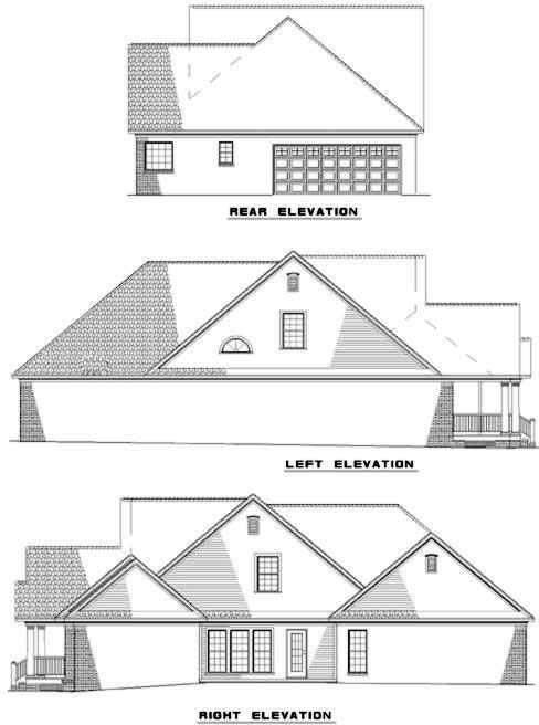 Rear Elevation Plan: 12-314