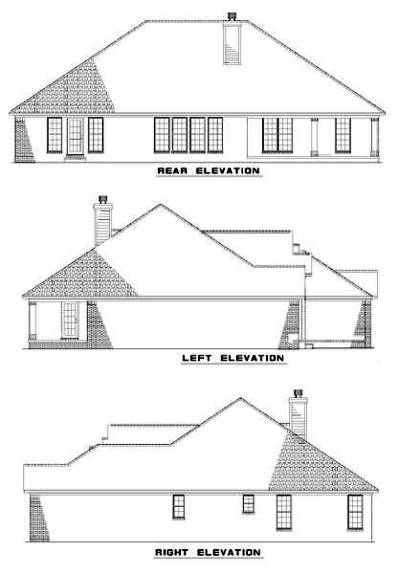 Rear Elevation Plan: 12-315