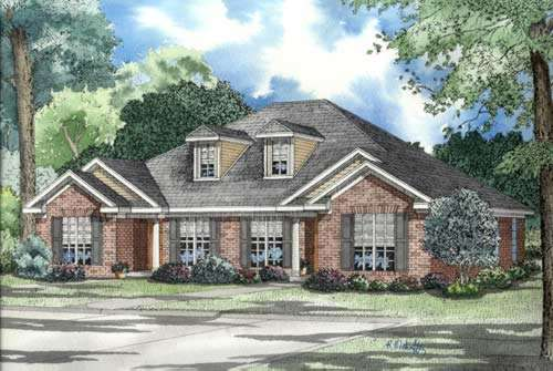 Traditional Style Home Design Plan: 12-316