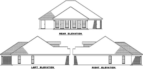 Rear Elevations Plan:12-316