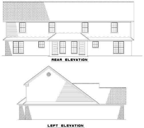 Rear Elevation Plan: 12-317