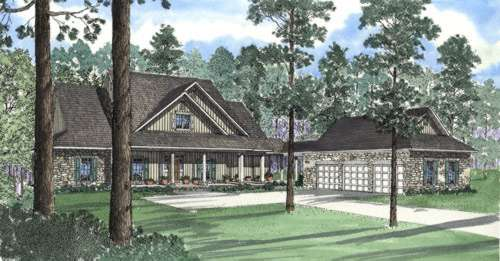Country Style Floor Plans Plan: 12-318