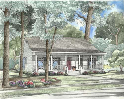 Country Style House Plans Plan: 12-319